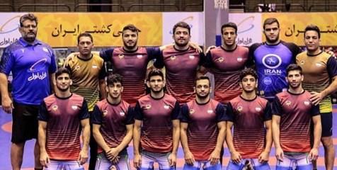 نایب قهرمانی تیم کشتی فرنگی ایران در اوکراین
