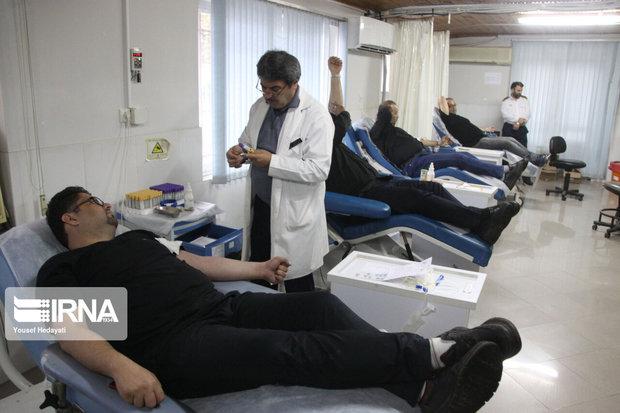 ۷۷۲ عزادار حسینی در خراسان شمالی خون اهدا کردند