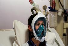 استفاده از ماسک غواصی آماتور به جای ماسک اکسیژن در بیمارستهای اروپا+عکس