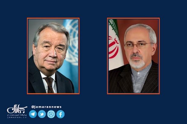 نامه ظریف به دبیرکل سازمان ملل درباره تروریسم هسته ای و خرابکاری در نطنز