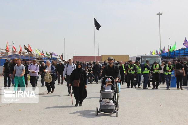 موج جمعیت زائران اربعین حسینی در چذابه