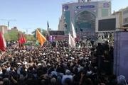 سیل خروشان مردم درتشییع پیکرشهدای حمله تروریستی اهواز