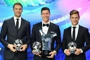 لواندوفسکی بازیکن سال اروپا شد/ هاردر و نویر بهترین فوتبالیست زن و دروازه بان +عکس و فیلم