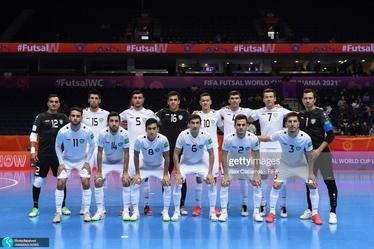 خوشحالی کریس رونالدو در بازی فوتسال ایران و ازبکستان +عکس