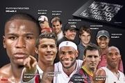 ۱۰ ورزشکار پردرآمد جهان/ عکس