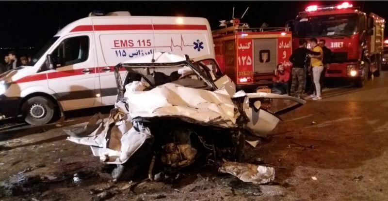 حوادث رانندگی در جاده کرج - چالوس ۲ کشته و سه زخمی  برجای گذاشت
