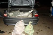 کشف محموله ۲۰۰ کیلویی تریاک در خودروی سمند