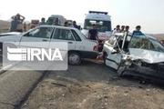 تصادف زنجیرهای آزادراه قزوین - زنجان را مسدود کرد