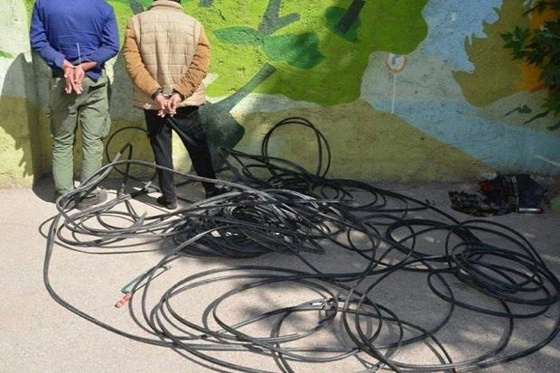 سارقان کابل های برق و مخابرات در مهاباد دستگیر شدند
