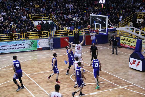 تیم بسکتبال شهرداری گرگان برابر نیروی زمینی تهران پیروز شد