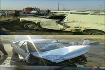 حادثه رانندگی در ورودی امیریه دامغان 2 مجروح برجا گذاشت