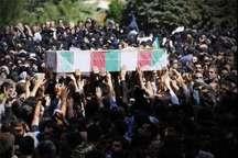 ورود پیکرهای مطهر 165 شهید دفاع مقدس به دزفول