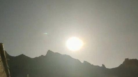 سقوط یک شی آسمانی درخشان در چین+ویدیو