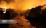 آتشسوزی گسترده در یک کارخانه در بینالود + عکس و فیلم