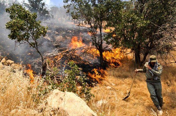 آتش سوزی مراتع چهارباغ گرگان مهار شد