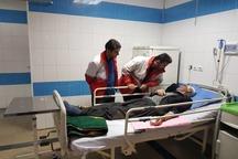 38 مصدوم واژگونی اتوبوس مشهد - کرمانشاه تحت درمان هستند