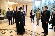دیدار و گفت و گوی رئیسی و عمران خان در حاشیه اجلاس شانگهای