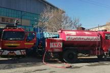 آتش سوزی انبار تولید قطعات خودرو در اراک مهار شد