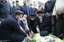 مراسم تشییع حجت الاسلام و المسلمین سید محمد جواد حسینی کاشانی(ره)