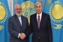 دیدار ظریف با رییس جمهور قزاقستان