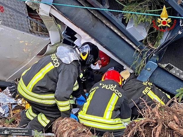 عکس/ حادثه سقوط تله کابین در ایتالیا که یک ایرانی هم جزو قربانیان بود