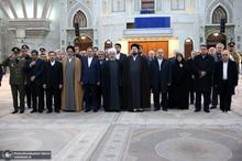 تجدید میثاق رییس جمهور و اعضای دولت با آرمان های امام و انقلاب