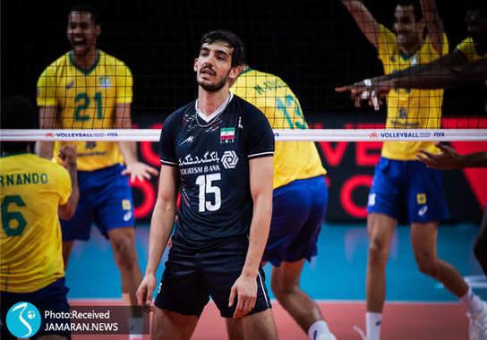 علی اصغر مجرد تیم ملی والیبال ایران - لیگ ملت های والیبال 2021- والیبال ایران و برزیل