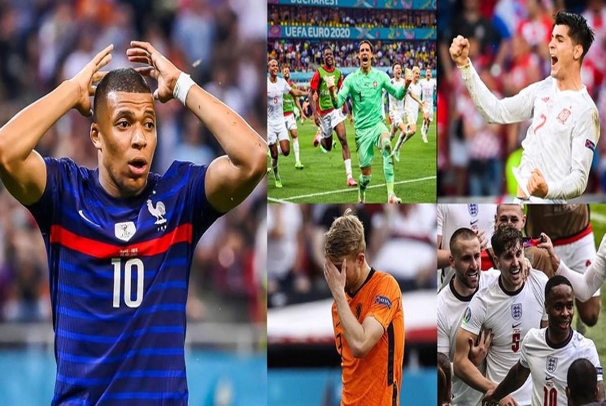 بهترینهای یک هشتم نهایی یورو 2020| شاهکار سوئیس/ امباپه ناکام بزرگ