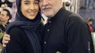 ایرج نوذری با موهایی سفید در کنار دخترش+عکس