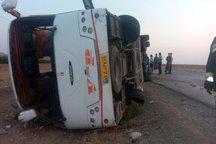 واژگونی اتوبوس در خراسان جنوبی سه مصدوم بر جا گذاشت