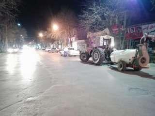 شهر آشخانه با ۱۸ دستگاه تراکتور ضدعفونی شد