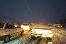 بارش  برف دراکثر مناطق  استان اردبیل  رانندگان غافلگیر شدند