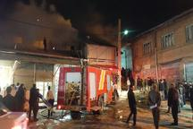 آتش سوزی بازار ابوذر خلخال مهار شد
