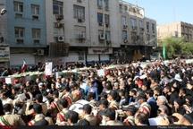گزارش تصویری وداع با شهدای عملیات تروریستی اهواز