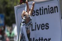 تظاهرات زنان در غزه علیه طرح الحاق سرزمینهای کرانه باختری به رژیم اشغالگر قدس