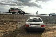 واژگونی پراید در جاده بافق- بهاباد، راننده را به کام مرگ فرستاد