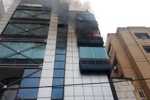 آتشسوزی در مجتمع تجاری هفت طبقه مشهد  حادثه خسارت جانی نداشت
