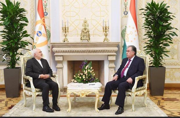 ظریف با رییس جمهور تاجیکستان دیدار کرد