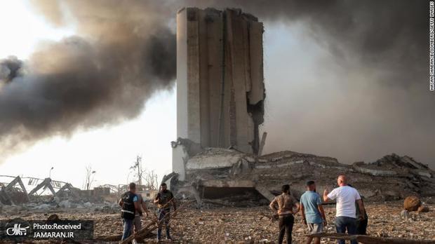 تصاویر هوایی از حجم تخریب انفجار بیروت