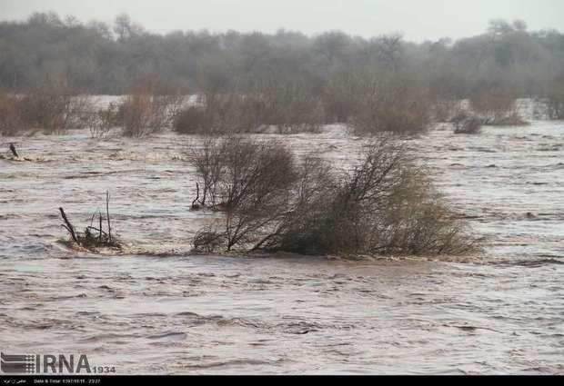 احتمال وقوع سیلاب  در حوضه کرخه همچنان وجود دارد