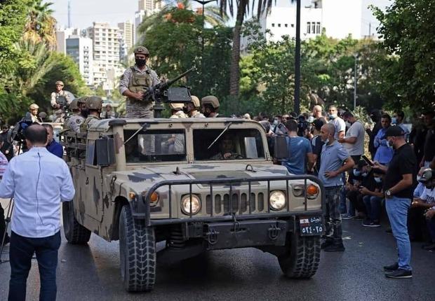 درگیری و تیراندازی در بیروت + تصاویر