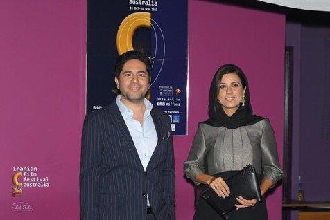 سارا بهرامی در مهمانی شام جشنواره فیلمهای پارسی در استرالیا + عکس