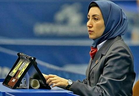 یک خانم ایرانی سرداور در مسابقات تنیس روی میز انتخابی المپیک شد