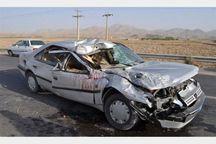 برخورد ۲ دستگاه خودروی سواری در جاده زنجان یک کشته و سه مصدوم برجا گذاشت