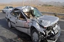 یک کشته بر اثر تصادف در آزادراه قزوین-کرج