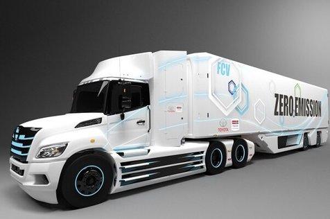 ساخت کامیون های هیدروژنی تویوتا