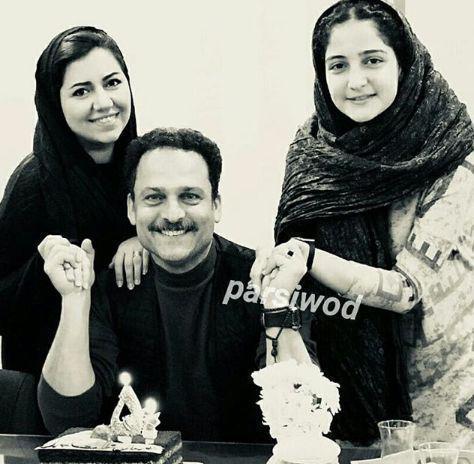 حسین یاری همراه با دختر و عروسش+ عکس