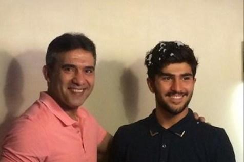 تمرینات جالب بدنسازی عابدزاده و پسرش+ویدیو