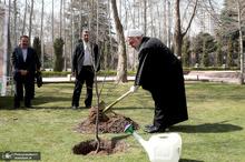 کاشتن نهال توسط رئیس جمهور به مناسبت روز درختکاری