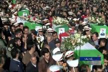 تشییع پیکر ۳ شهید سقوط هواپیما در بهار و نهاوند